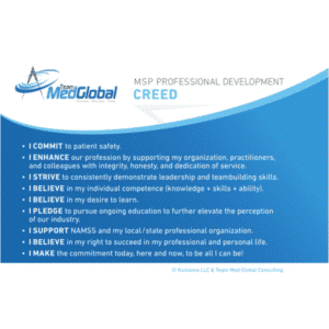 MSP Professional Development Creed Team Med Global