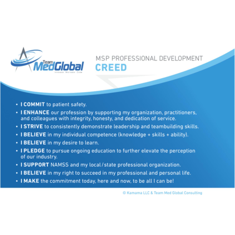 MSP Professional Development Creed Team Med Global